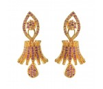Ruby Stone Jumukka Earrings