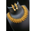 Parrot Design Necklace with Earring - Red kundan Stone