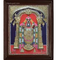 Thirupathi Balaji Double Emboss Tanjore Painting
