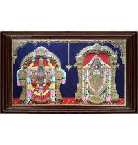 Balaji Thaayar Double Emboss Tanjore Painting