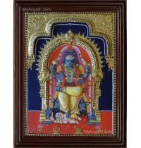 Dakshinamurthy Double Emboss Tanjore Painting