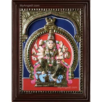 Kuladeivam Double Emboss Tanjore Painting