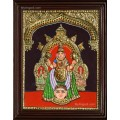 Amman Double Emboss Tanjore Painting