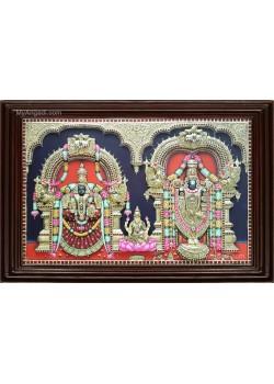 Thirupathi Balaji Padmavathi Amman  3D Tanjore Painting