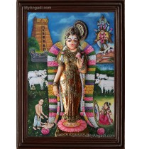 Andal 3D Tanjore Painting