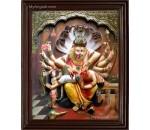Ukkara Narasimhar  3D Tanjore Painting
