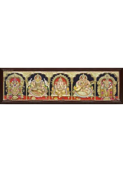 Five Panel  3D Tanjore Painting
