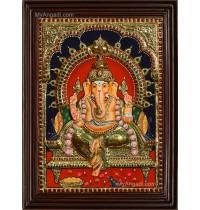 Ganesha 3D Tanjore Painting
