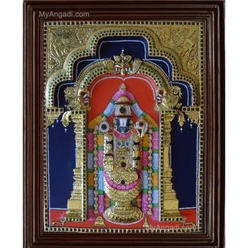 Tirupathi Balaji  3D Tanjore Painting