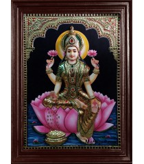 Dhana Lakshmi Super Emboss Tanjore Painting