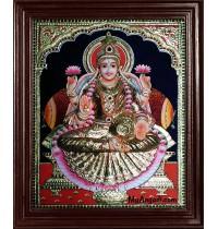 Mahalakshmi Super Emboss Tanjore Painting