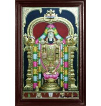 Thirupathi Balaji Super Emboss Tanjore Painting
