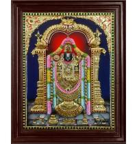 Thirupathi Venkateswara - Balaji Super Emboss Tanjore Painting