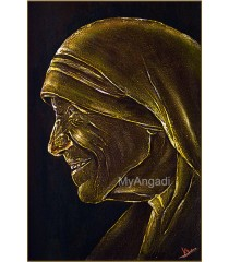 Mother Theresa Acrylic Mural Painting