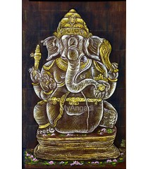 Ganesha Acrylic Mural Painting