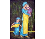 Mother - Child - Acrylic Mural Painting