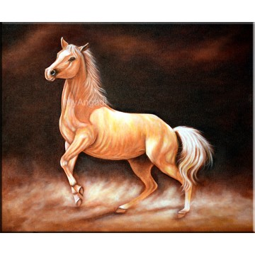 Roaring Horse Oil Painting