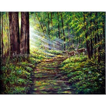 Golden Sunrays Oil Painting