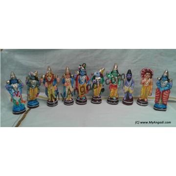 Dasavatharam Golu Dolls - தசவதாரம் தொகுப்பு கொலு பொம்மைகள்