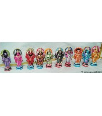 Dasavatharam Very Small 3 Inches Golu Dolls