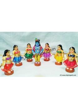 Gopiar Dance Small Golu Dolls - கோபியர் நடனம் சிறியது கொலு பொம்மைகள்