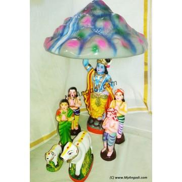 Govardhana Giri Big Golu Dolls - கோவர்தன கிரி கொலு பொம்மைகள் பெரியது