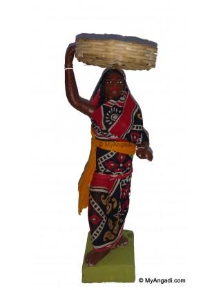 Lady Gents Fruit Merchant Set Golu Dolls - பழம் விற்பவர் ஆண் பெண் கொலு பொம்மை