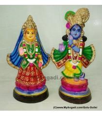 Krishna Radhai Golu Doll / Golu Bommai