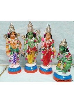 Ramar Set Big Golu Dolls - ராமர் தொகுப்பு கொலு பொம்மைகள்