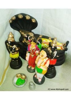 Srirangam Aanadal Set Golu Dolls - ஸ்ரீரங்கம் ஆண்டாள் தொகுப்பு கொலு பொம்மை