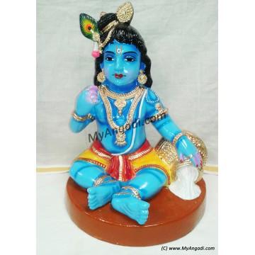 Vennai Krishnar Big Golu Dolls - வெண்ணை கிருஷ்ணர் பெரியது கொலு பொம்மை