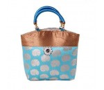 Gorgeous Gold Blue Mango Print Bag for Return Gifts