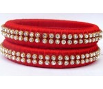 Red Silk Thread Bangle