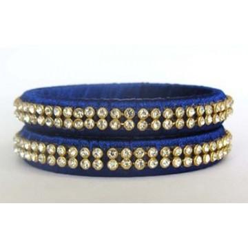 Blue Silk Thread Bangle