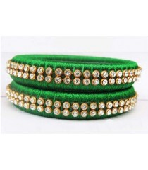Green Silk Thread Bangle