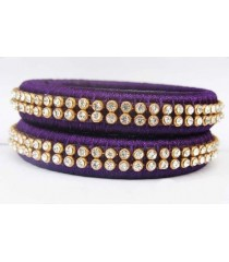 Violet Silk Thread Bangle