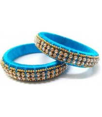 Blue Silk Thread Bangle
