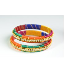 Multi Colour Silk Thread Bangle