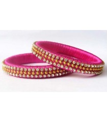 Pink Silk Thread Bangle
