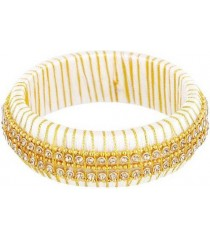 White Gold Silk Thread Bangle