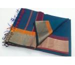 Blue Sandal Silk Cotton Saree