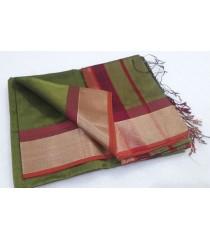 Green Maroon Silk Cotton Saree
