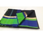Black Green Blue Silk Cotton Saree