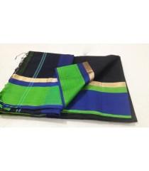 Black Green Blue Silk Cotton Saree