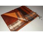 Brown Gold Orange Silk Cotton Saree
