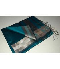 Blue Silver Silk Cotton Saree