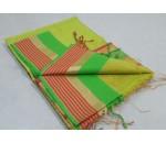 Light Green Pink Silk Cotton Saree