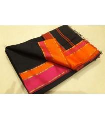 Black Orange Pink Silk Cotton Saree