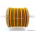 Olive Green Colour Silk Thread Bangles-11 Set