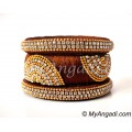 Kakki Grand Kada Bridal Silk Thread Bangle Set